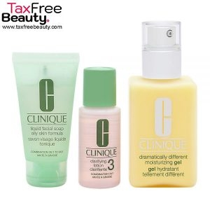 Clinique 3-step skin care introduction kit – combination oily skin type by clinique 3 Pc, קליניק 3 סטאפ שילוב לעור שומני