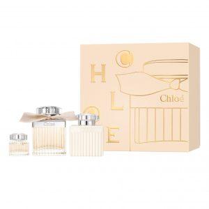 "Chloe By Chloe 3 Piece Gift Set סט קלואה קלאסי מארז 3 חלקים  א.ד.פ 75 מ"" + תחליב גוף מבושם 100 מ""ל + אריזת נסיעה או דה פרפיום 5 מ""ל"