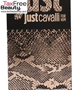 "Roberto Cavalli Just Cavalli GOLD  Eau de Parfum Spray for Men, 90 ML, רוברטו קאוולי ג'וסט קאוולי זהב 90 מ""ל"