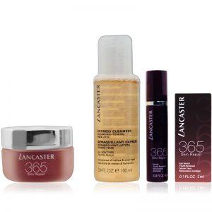 Lancaster 365 Skin Repair Set Day Cream 50ml + Repair Serum 10ml + Eye Serum 3ml + Cleanser 100ml לנקסטר איפור סט