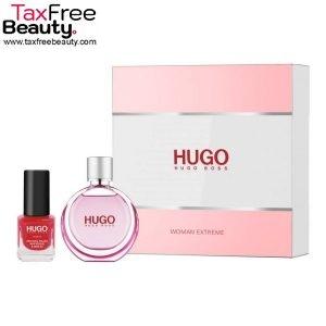 סט הוגו בוס אקסטרים לאישה Hugo Boss Women Extreme 2 Pcs Set: 30 ML EDP Spray + 4.5 ML Nail Polish