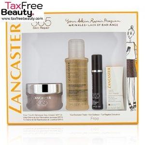 Lancaster365 Skin Repair Set: Youth Renewal Day Cream 50ml+ Serum Youth Renewal 10ml+ Eye Serum 3ml+ Express Cleanser 100ml 4pcs, טיפוח העור לנקסטר סט שכולל קרם לחות וטיפולים+ סרופ ורכז+ טיפוח העיניים