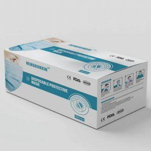 מארז 50 מסכות אף פה, 3 שכבות , מסכה כירורגית למניעת הדבקה של חיידקיים/קורונה ,עם תקן מחמיר