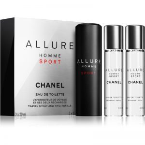 "Chanel Allure Homme Sport Eau De Toilette Travel Spray 3x20ml שאנל אלור הום ספורט אדט לגבר 3X20 מ""ל"
