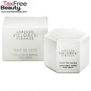 "Lorenzo Villoresi Teint De Neige Body Cream לורנזו וילורסי טאינט דה נאג' קרם גוף לאישה בגודל 200 מ""ל"