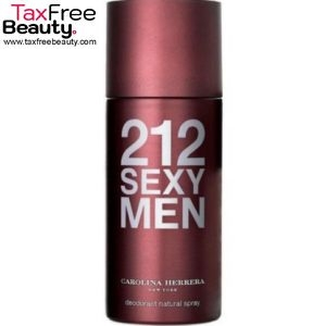 "Carolina Herrera 212 Sexy Men Deo 150 Ml 212 קרולינה הררה סקסי דאודורנט ספריי אדט לגבר 150 מ""ל"