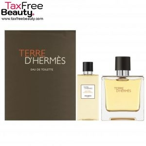Terre D'Hermes by Hermes for Men 2 Piece Set Includes 100ml Eau De Toilette Spray 2.7 Oz All Over Shower Gel