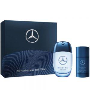 "Mercedes-Benz the Move Set 100ml EDT 2019 + 75ml Deostick סט לגבר הכולל בושם א.ד.ט 100 מ""ל ודאודורנט סטיק"