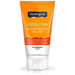 Neutrogena Visibly Clear Blackhead Eliminating Daily Scrub 150ml VZ ויזבלי | ג'ל / פילינג | ניקוי פנים ומסיר איפור | תרחיץ גרגירים יומי לחיסול ראשים שחורים