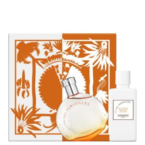 HERMES Eau Des Merveilles 50ml EDT + 40ml BODY LOTION Gift Set