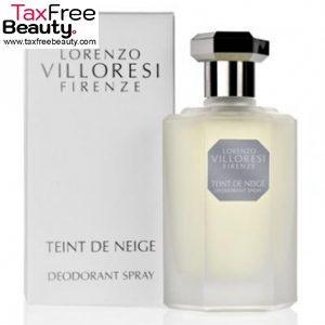 "Lorenzo Villoresi  Deodorant teint de neige Spray 100ml Tester טסטר לורנזו וילורסי טאינט דה נאג' דאודורנט 100 מ""ל"