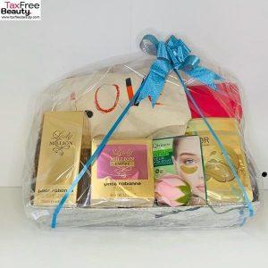 Paco Rabanne Gift Set lady million empire EDP50ml lady million BL 200ml 2 lancome bags,gold musk qiriness, eye contour mask qiriness