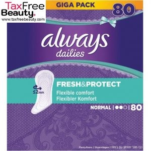 Always Dailies Fresh and Protect Panty Liners Normal 80 Units אולדייז מגה פק נורמל 80יחידות