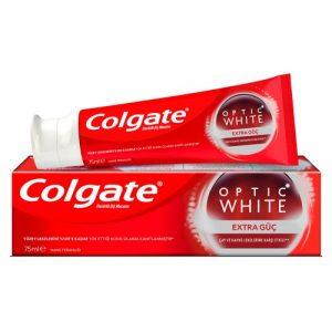 """Colgate Optic Whit Flouride Toothpaste 75ml משחת שיניים קולגייט אופטיק וויט אקסטרה פאואר 75 מ""""ל"""